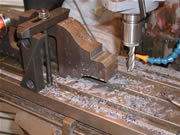 Milling the cradle seat