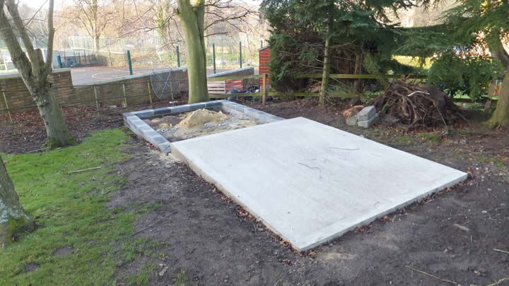 Base cast pad
