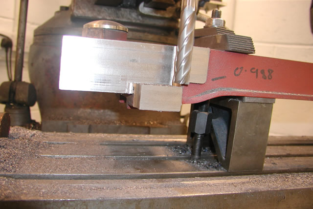Cutting the bottom face of the front boiler support