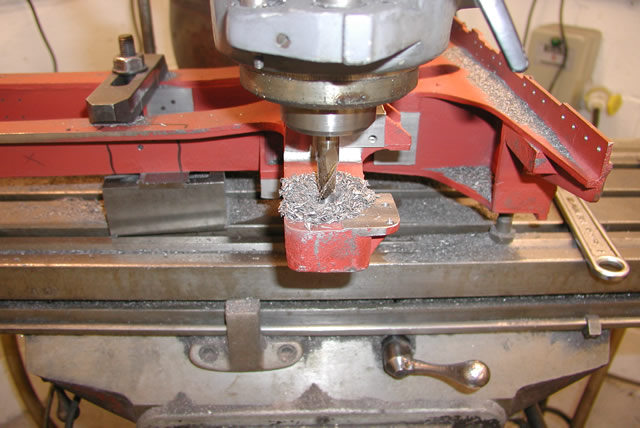 Milling slot and holes in plate